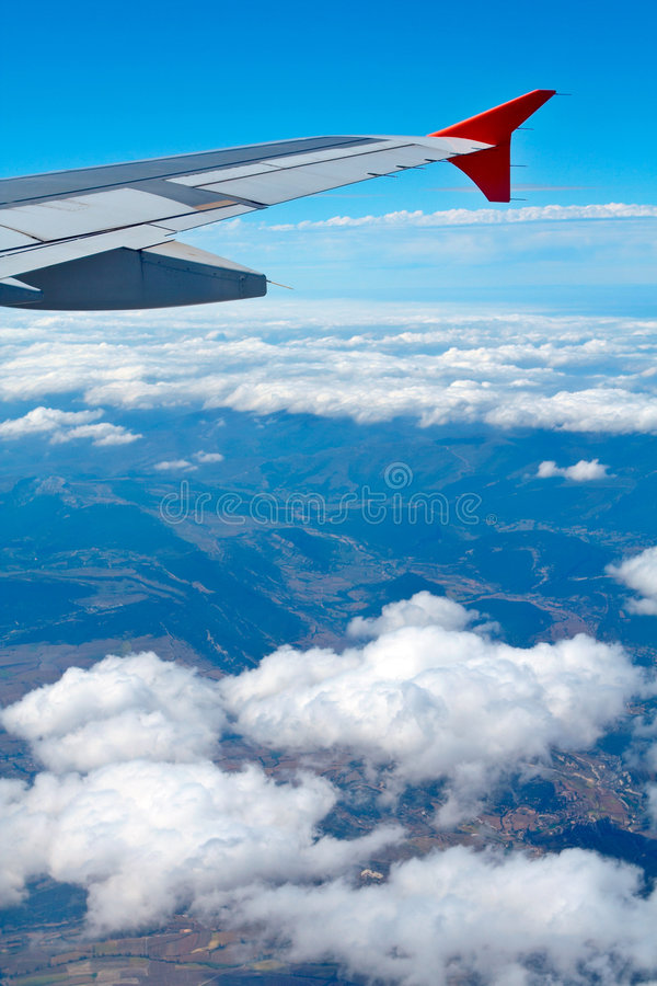 Aerial view from airplane royalty free stock photo