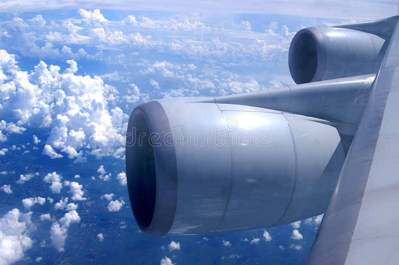 An aerial view from an airplane royalty free stock image