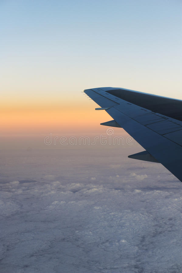 Aerial view from an airplane. An aerial view from an airplane stock photo
