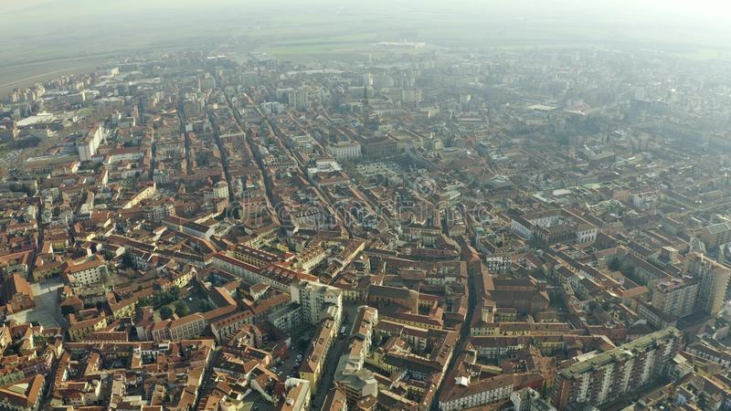 Aerial view of Alessandria, Italy. Aerial shot of Alessandria, Italy royalty free stock image