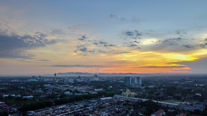 Aerial view of Alor Setar Malaysia. Beautiful landscape in the morning stock photography