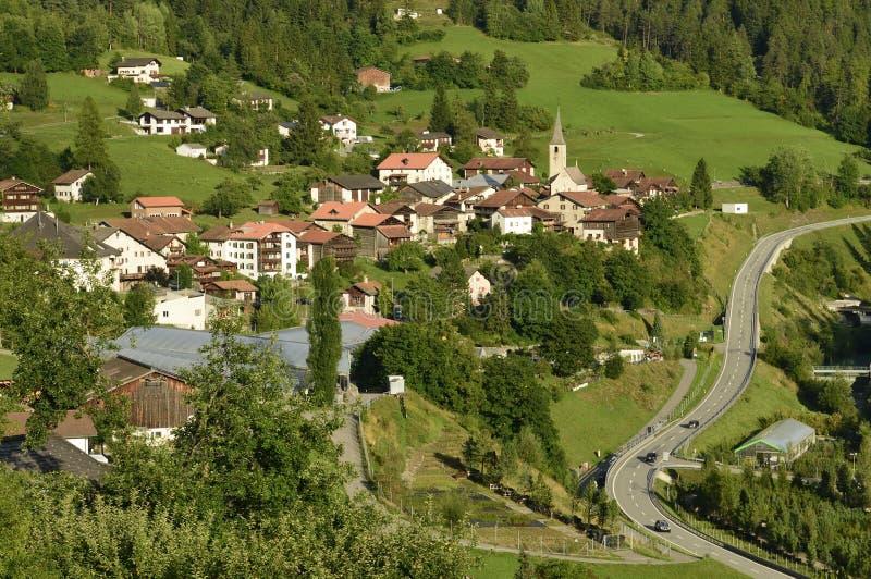 Filisur, Graubunden Canton, Switzerland stock photography