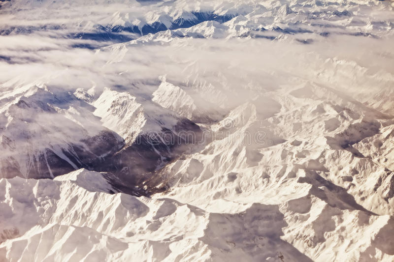 Download Aerial view of alps stock image. Image of evening, peak - 17446327