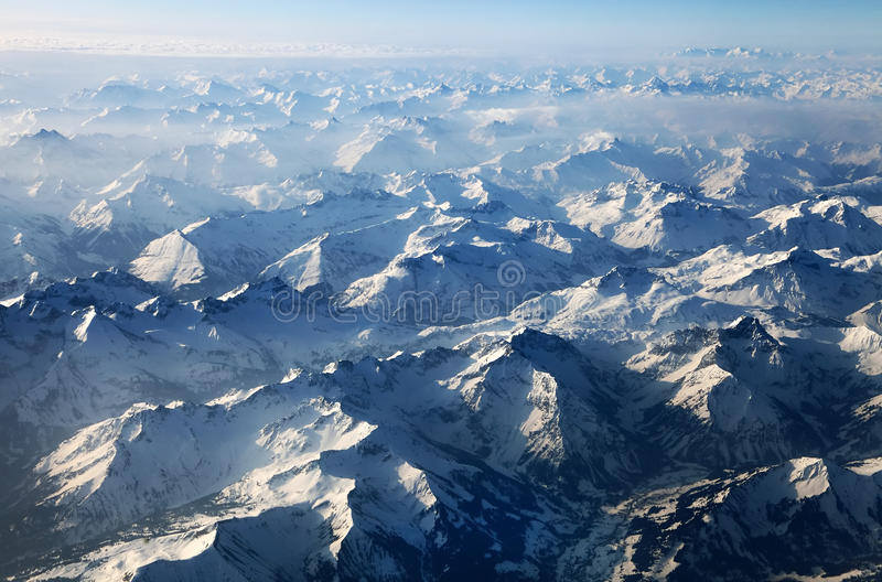 Download Aerial view of the Alps stock photo. Image of light, above - 24835596