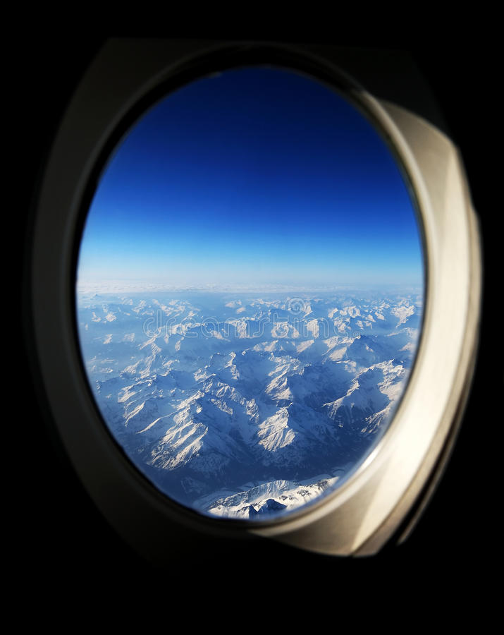 Aerial View Of The Alps Royalty Free Stock Photos