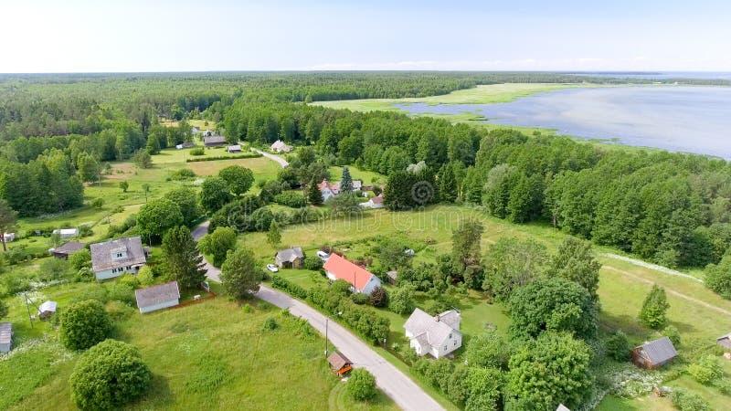 Aerial view of Altja, Estonia royalty free stock photography