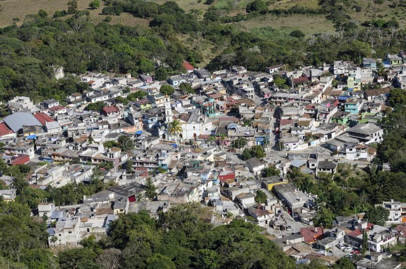 Aerial view of Alto Lucero, Veracruz, Mexico. Alto Lucero is located at 21 miles of Xalapa, capital of the state of Veracruz royalty free stock photo