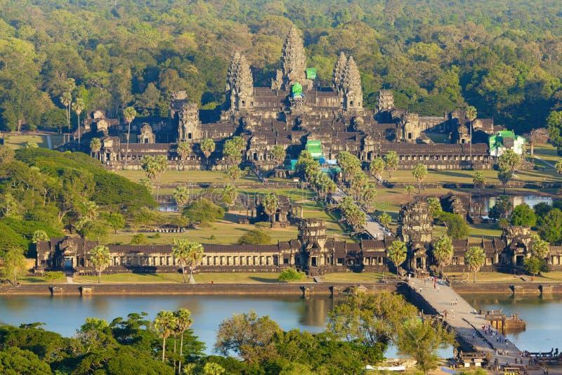Aerial view of Angkor Wat royalty free stock photos