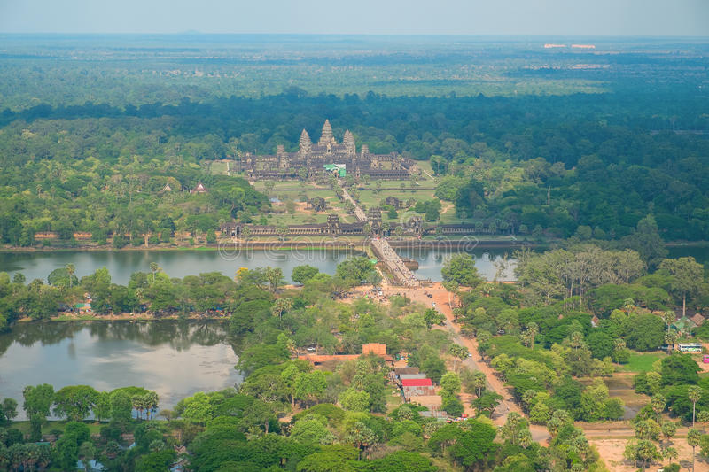 Download Aerial View Of Angkor Wat Temple Stock Photo - Image: 33509818