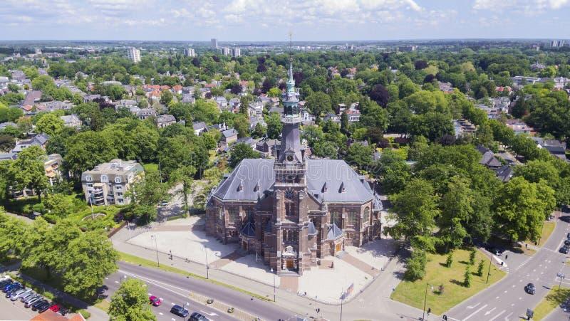 Aerial view on Apeldoorn. Aerial view on Grote Kerk, Apeldoorn stock images