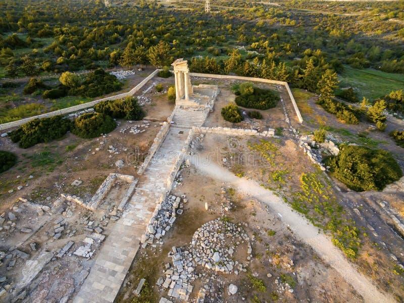 Aerial view of Apollonas Ilatis ancient site, Limassol, Cyprus stock images