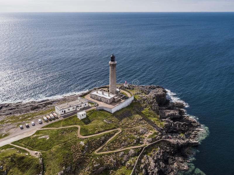 Aerial view of Ardnamurchan Lighthouse royalty free stock image
