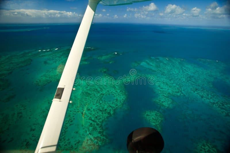Aerial view Arlington Reef at Great Barrier Reef. Aerial view of Arlington Reef at Great Barrier Reef Marine Park stock image