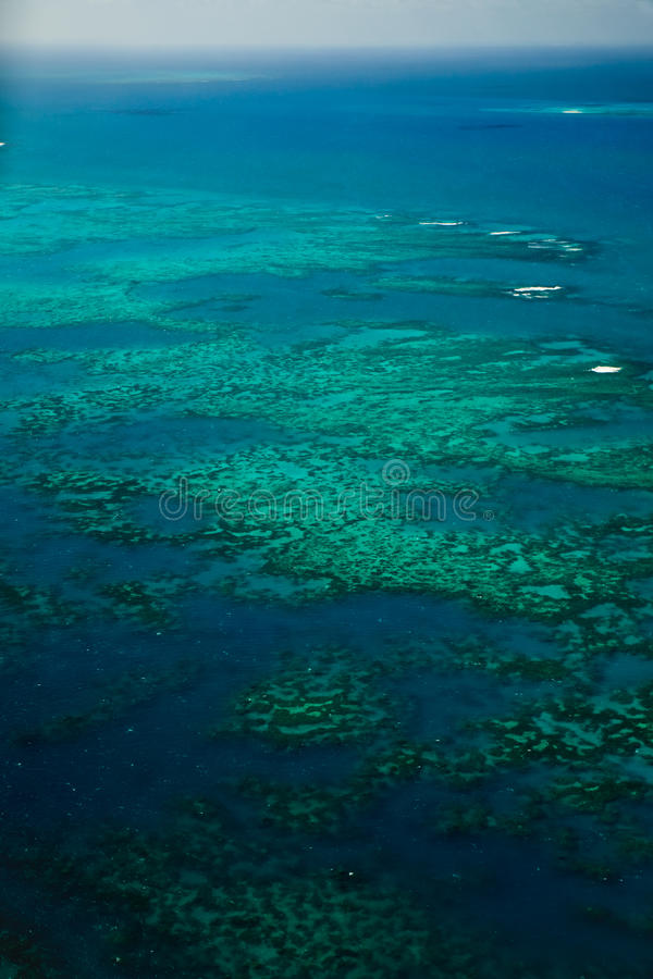 Aerial View of Arlington Reef Great Barrier Reef. Aerial View of Arlington Reef and Islands in Great Barrier Reef Marine Park Australia royalty free stock photos