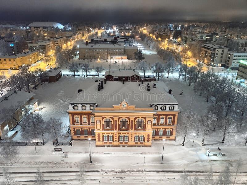 Art Museum Onni in Joensuu, Finland. Aerial view of Art Museum Onni in Joensuu, Finland stock image