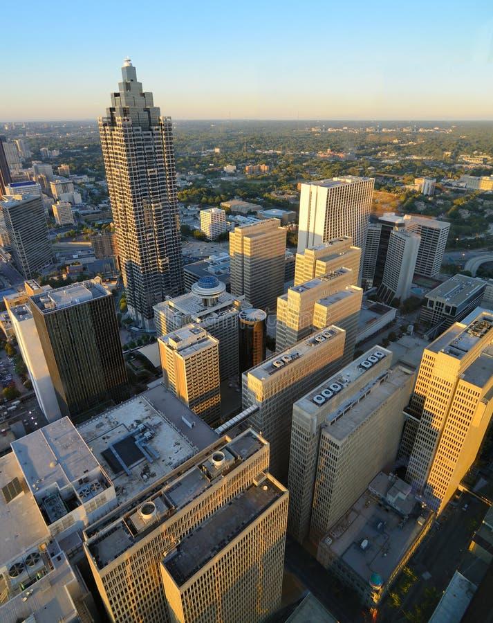 Aerial View of Atlanta stock images