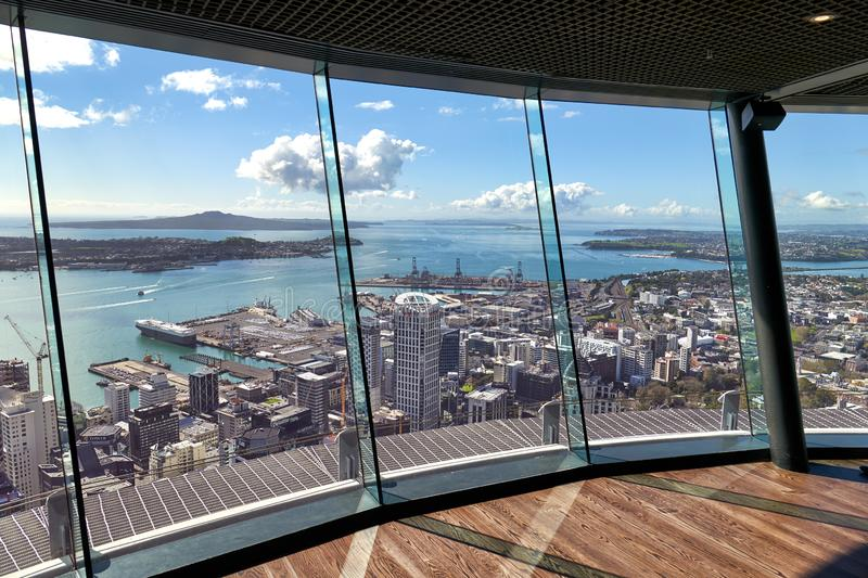 Auckland New Zealand. Aerial view of Auckland New Zealand stock images