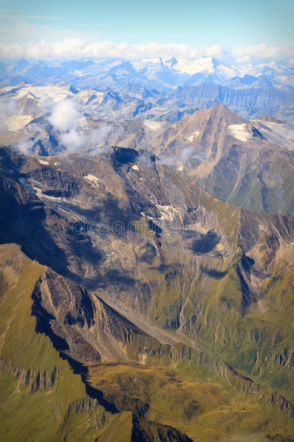 Download Aerial View Of Austrian Alps In Summer Stock Photo - Image: 21543254
