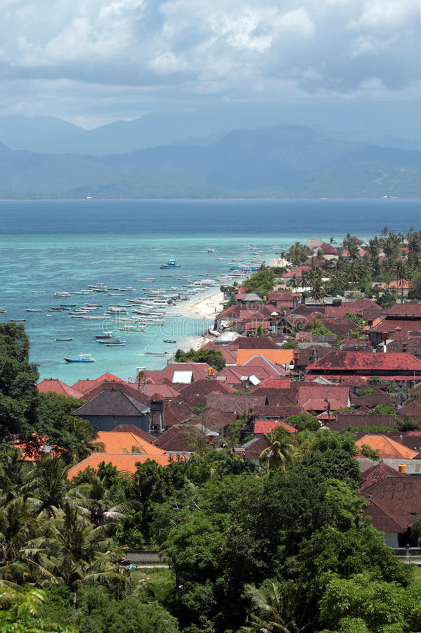 Aerial view of Bali royalty free stock image