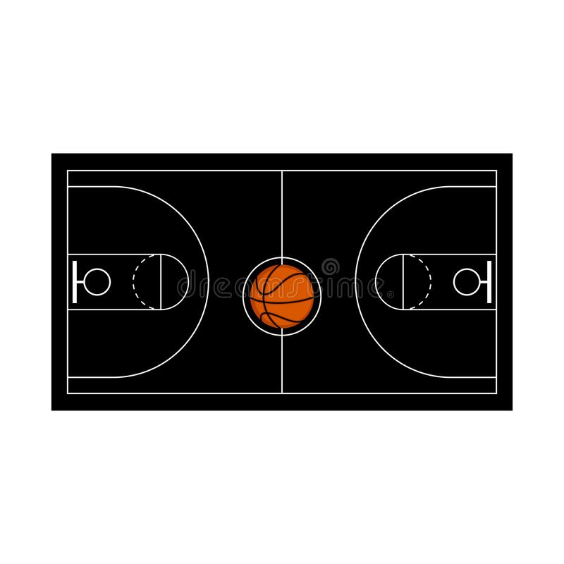 Aerial view of a basketball court. Vector illustration design vector illustration