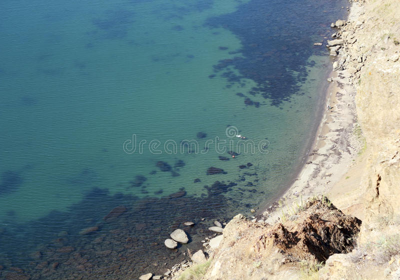 Aerial view of the beach royalty free stock images