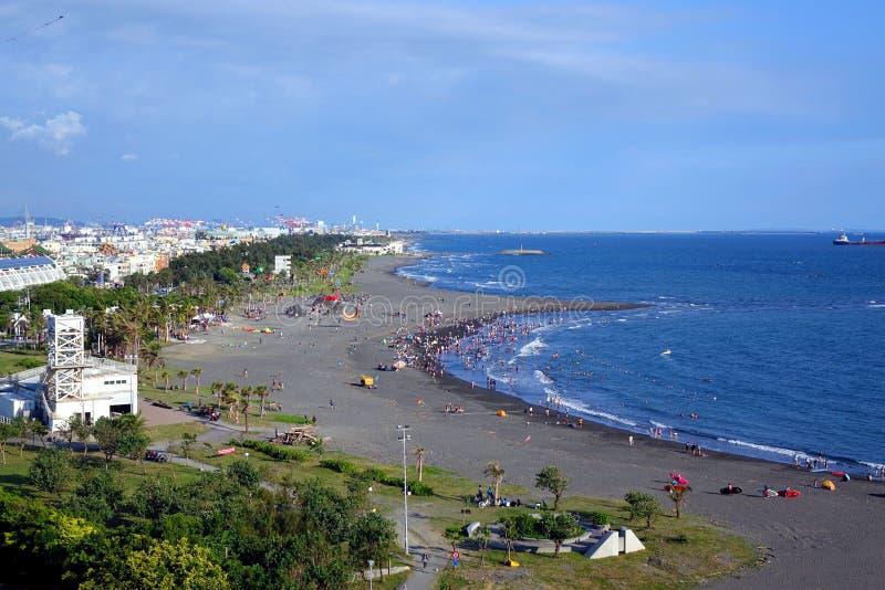 Beach on Cijin Island royalty free stock image