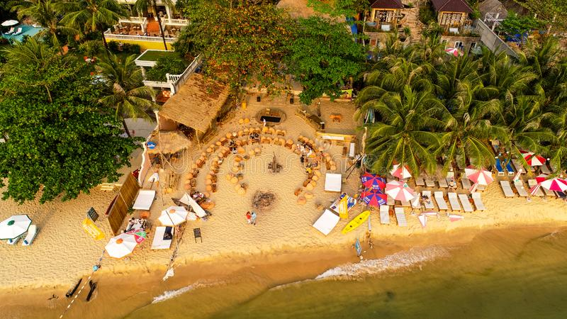 Aerial View Beach On Phu Quoc in Vietnam , royalty free stock photos