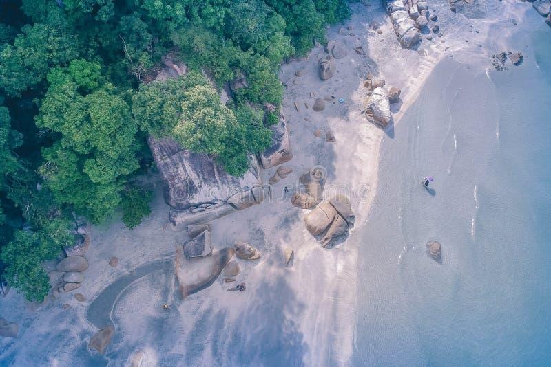 Aerial-view of Beach Shore stock photo