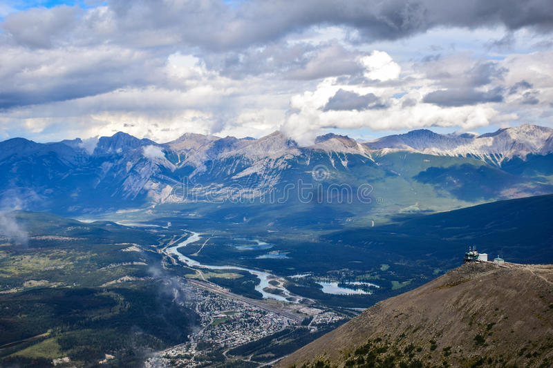 Aerial View of Beautiful Mountain Range in Rockies stock images