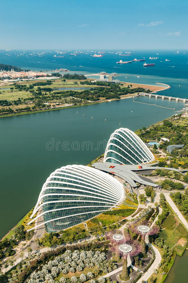 Aerial view of beautiful Singapore royalty free stock images