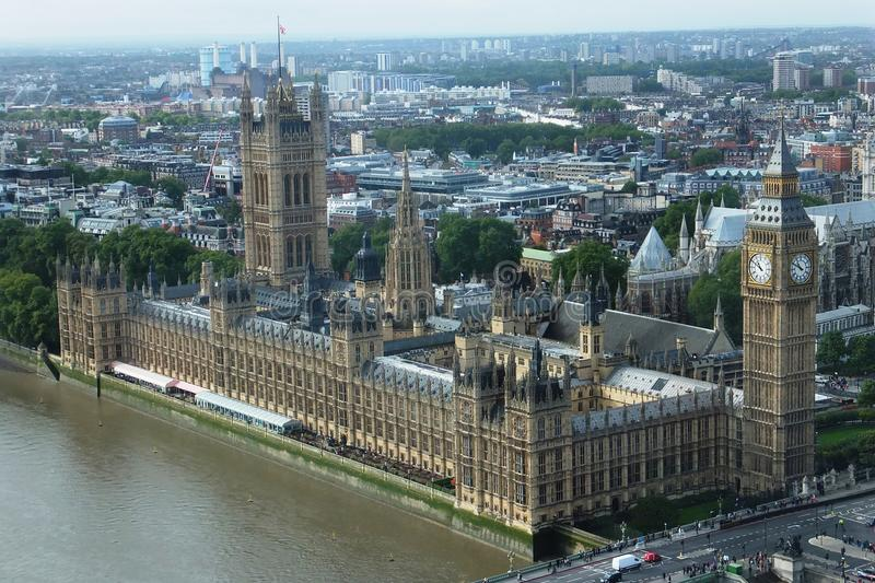 Aerial view of Big Ben royalty free stock photo