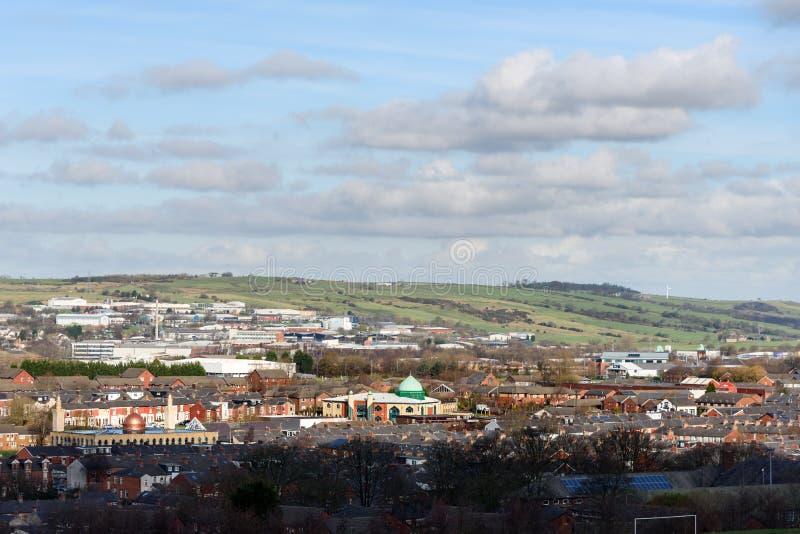 Aerial View Blackburn UK royaltyfria foton