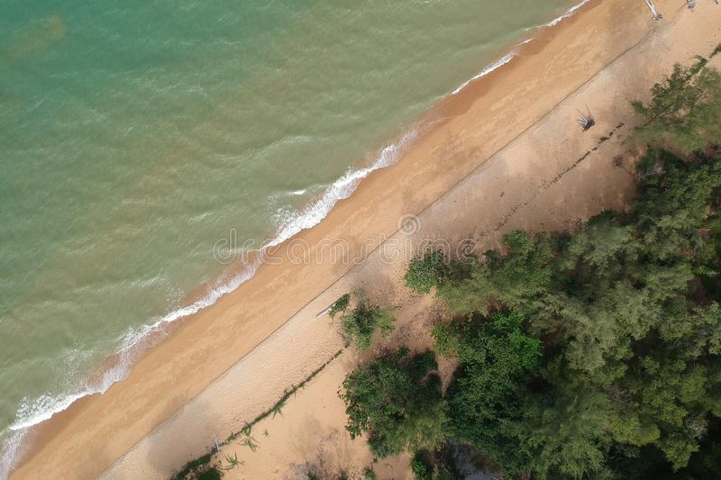 Aerial View of Body of Water stock images