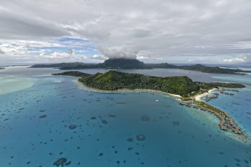 Aerial View On Bora Bora Royalty Free Stock Photo