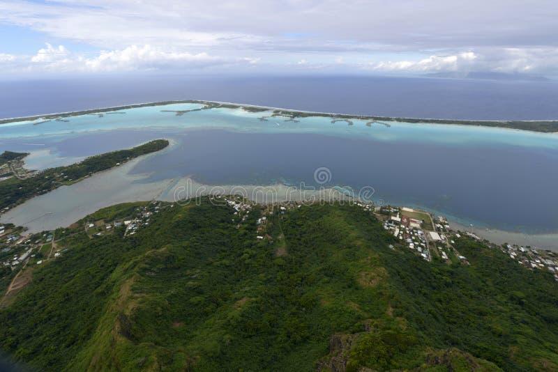 Aerial View On Bora Bora Stock Image