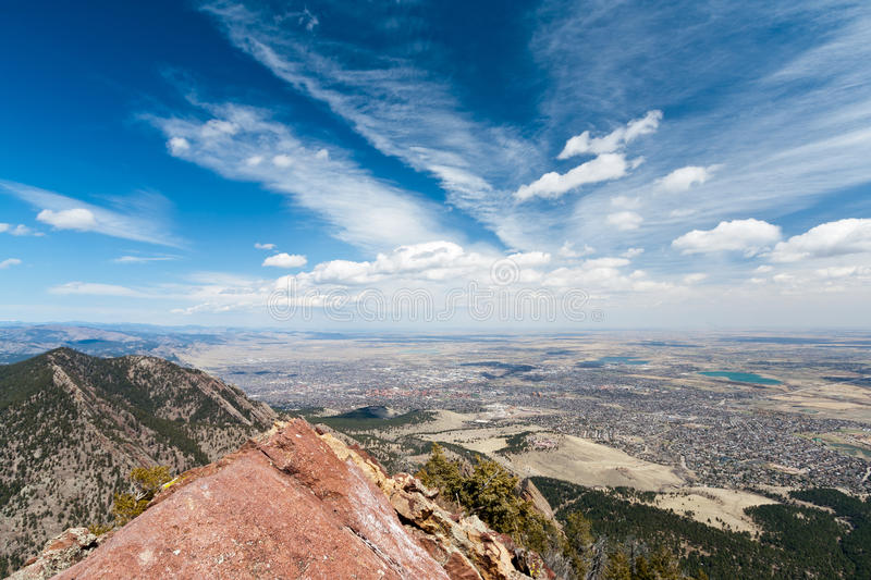 Aerial View of Boulder, Colorado royalty free stock images