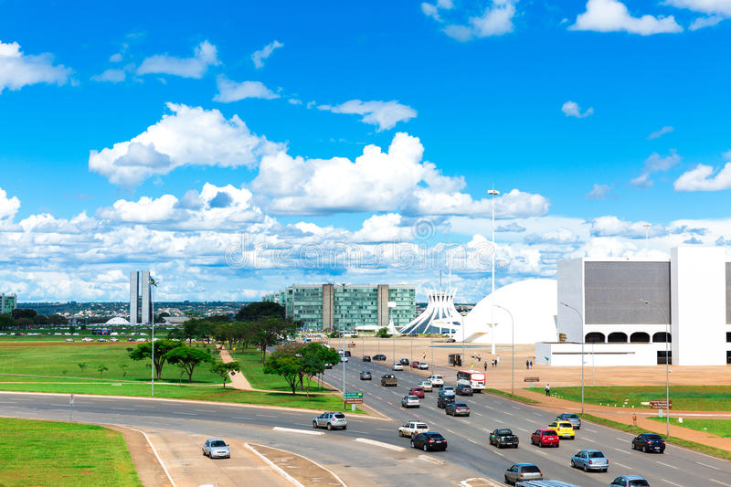 Aerial view of Brasilia in Brazil, South America stock image