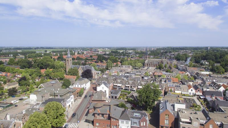Aerial view on Breukelen royalty free stock photography
