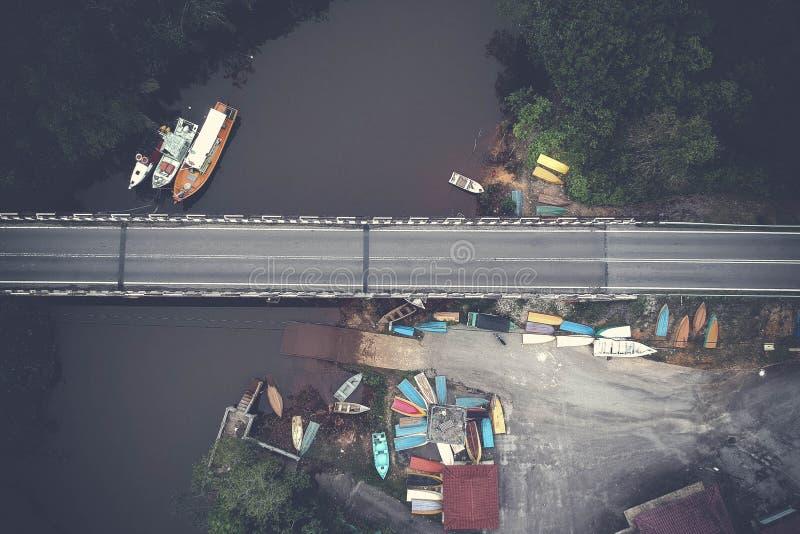 Aerial View of Bridge royalty free stock photo