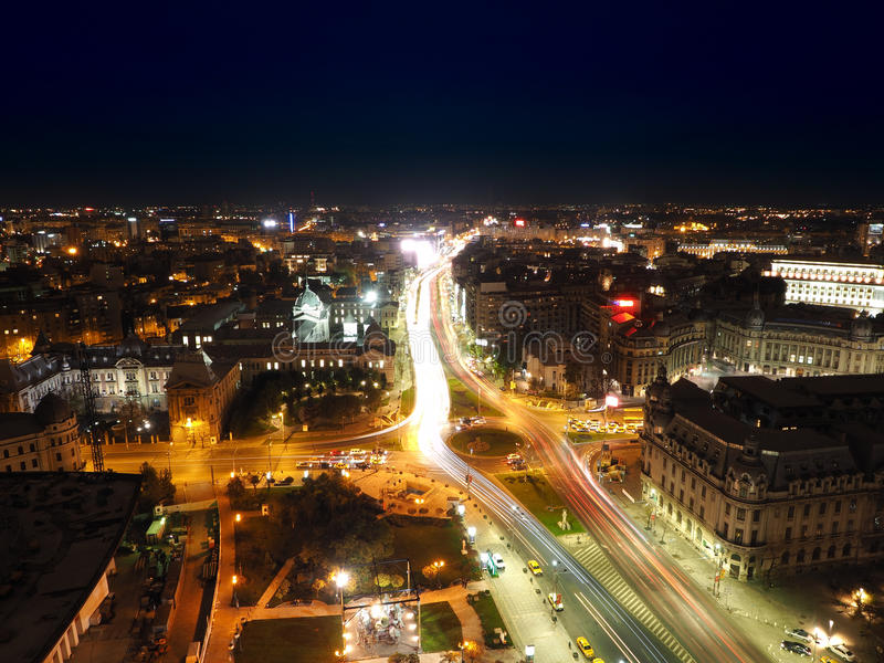 Aerial view of Bucharest city royalty free stock photography