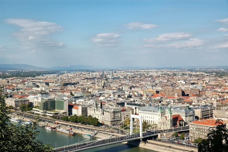 Download Aerial view of Budapest stock photo. Image of skyline - 28533852