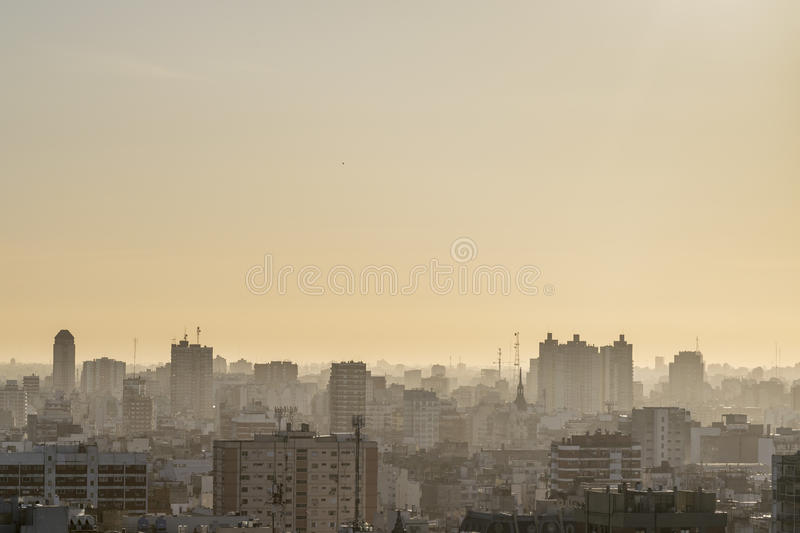 Aerial View of Buenos Aires Argentina. Aerial view of eclectic style architecture of Buenos Aires, the capital city of Argentina in South America royalty free stock photography