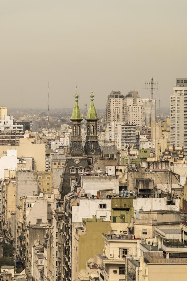 Aerial View of Buenos Aires from Panoramic Viewpoint stock photography