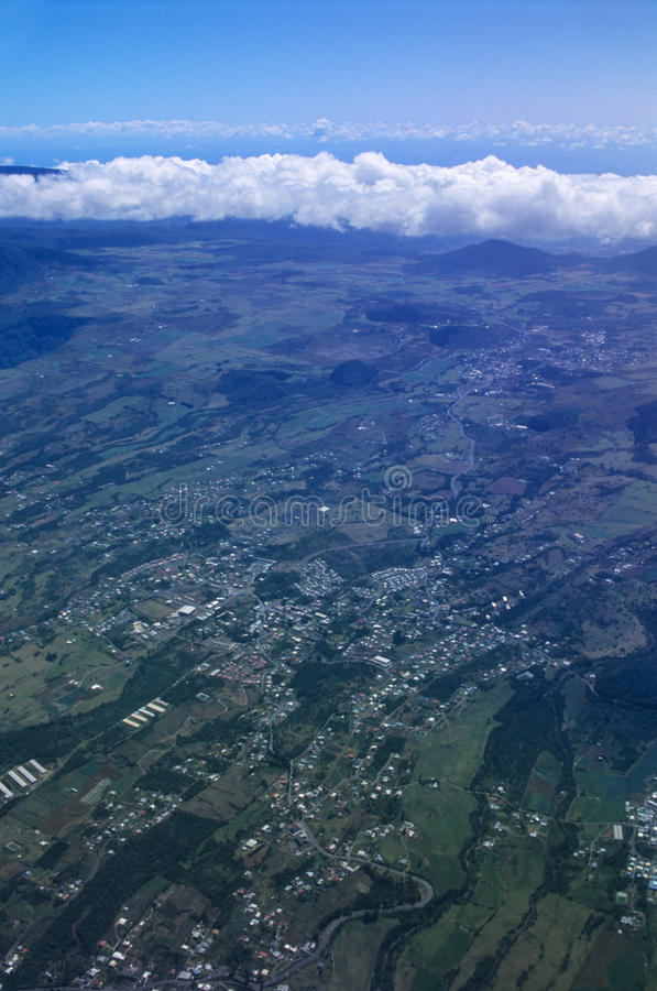 Download Aerial View Of Cafres Plain Reunion Island Stock Image - Image: 16988015