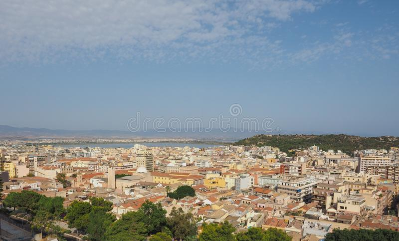 Aerial view of Cagliari. Aerial view of the city of Cagliari, Italy stock images