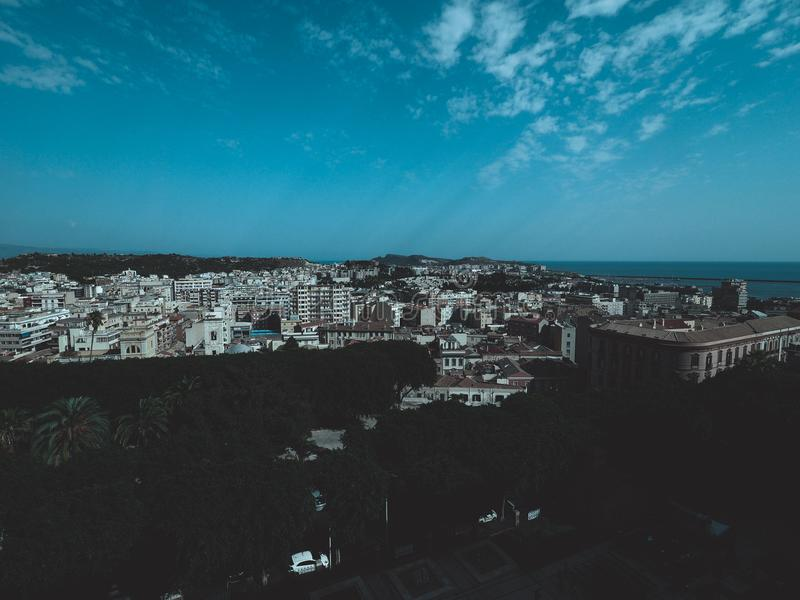 Aerial view of Cagliari. Aerial view of the city of Cagliari, Italy royalty free stock photo