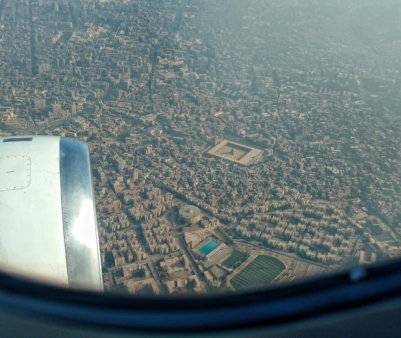 Aerial view of Cairo Egypt stock photos