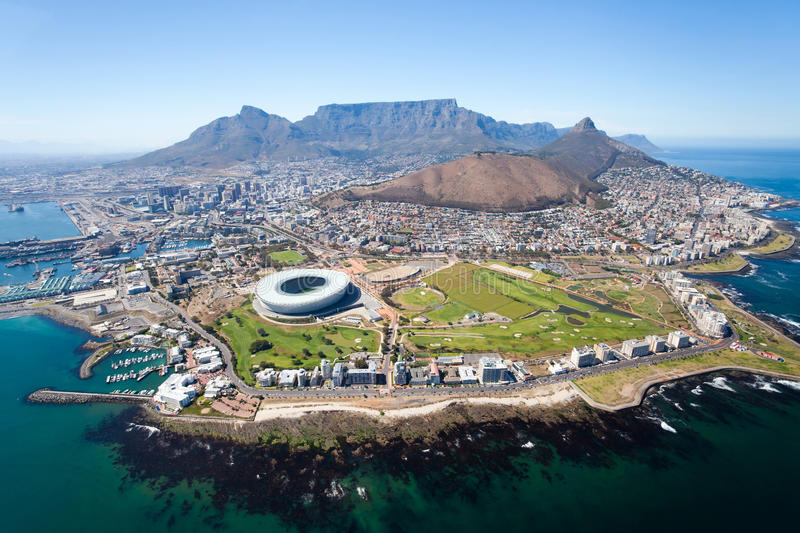 Aerial view of Cape Town royalty free stock images