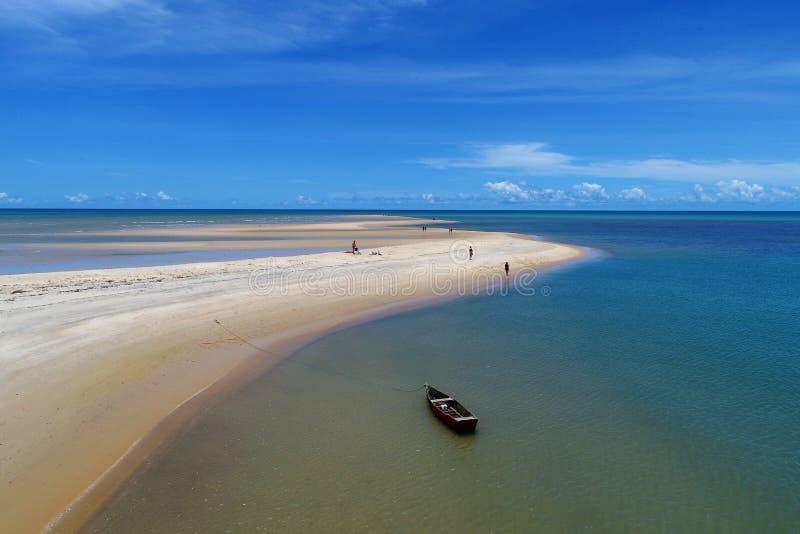 Aerial view of Caraíva & Corumbau beaches, Porto Seguro, Bahia, Brazil. Drone view of Caraíva, Trancoso and Corumbau beaches, in Porto Seguro and Prado royalty free stock photography