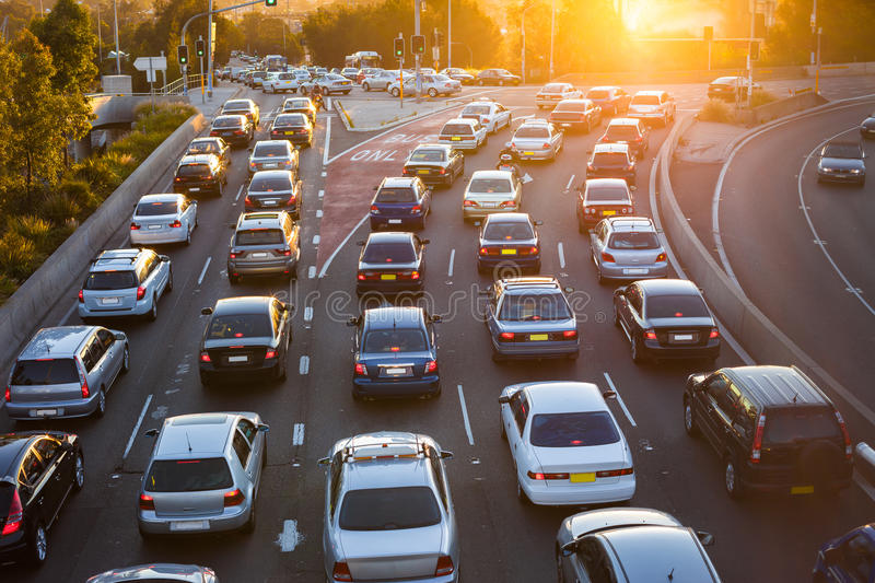 Download Aerial View Of Cars In Traffic Stock Image - Image of environment, highway: 27980537